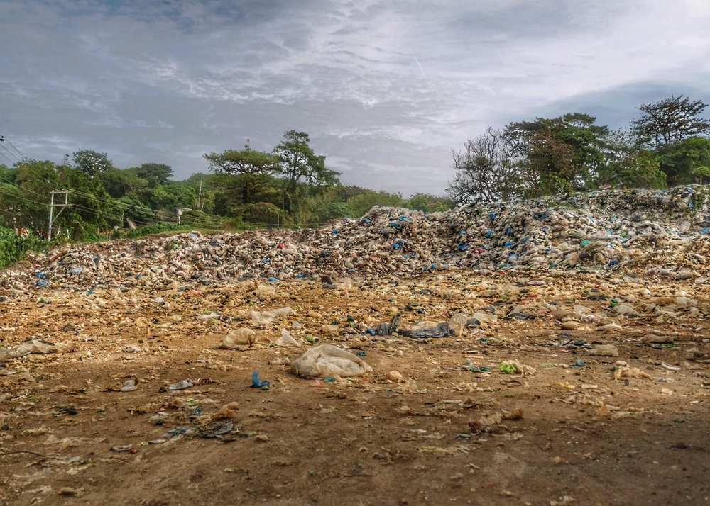Land fill along Mt. Luho.
