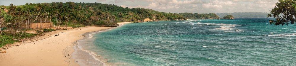 The eastern coast of Boracay.