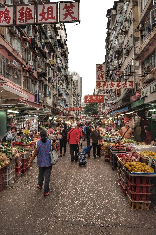 Local street markets.