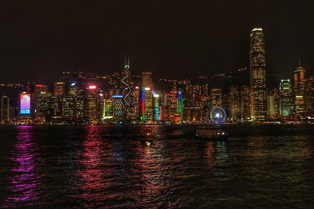 Hong Kong's skyline.