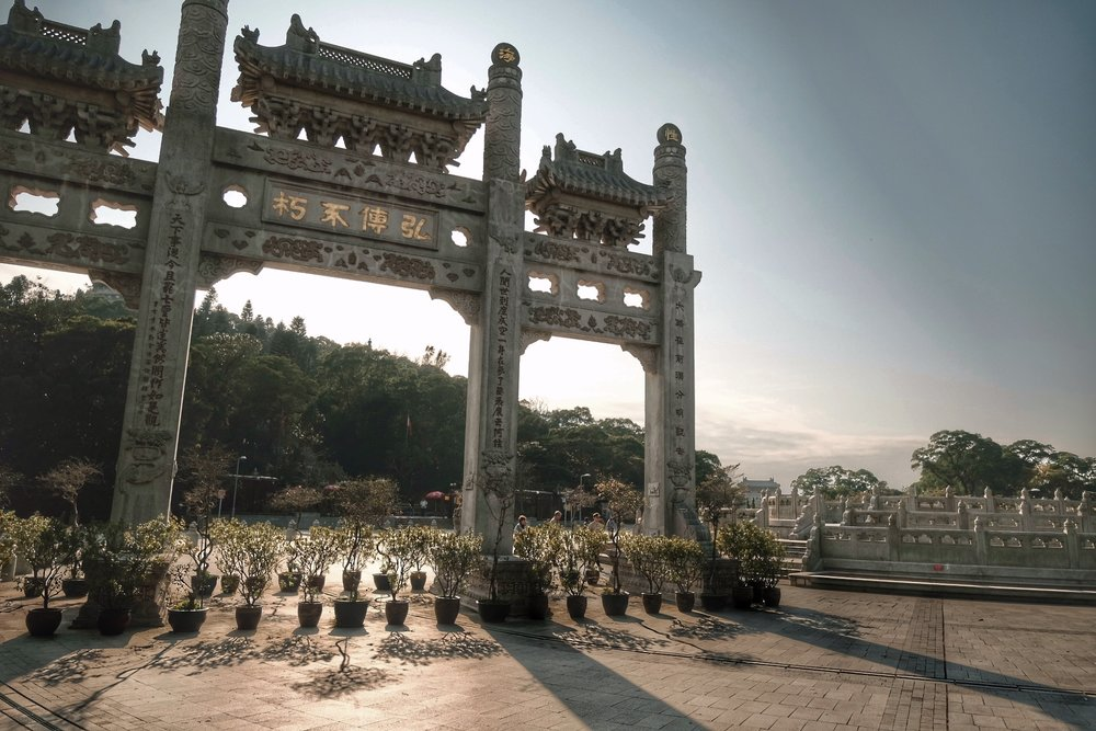 Ngong Ping Piazza.