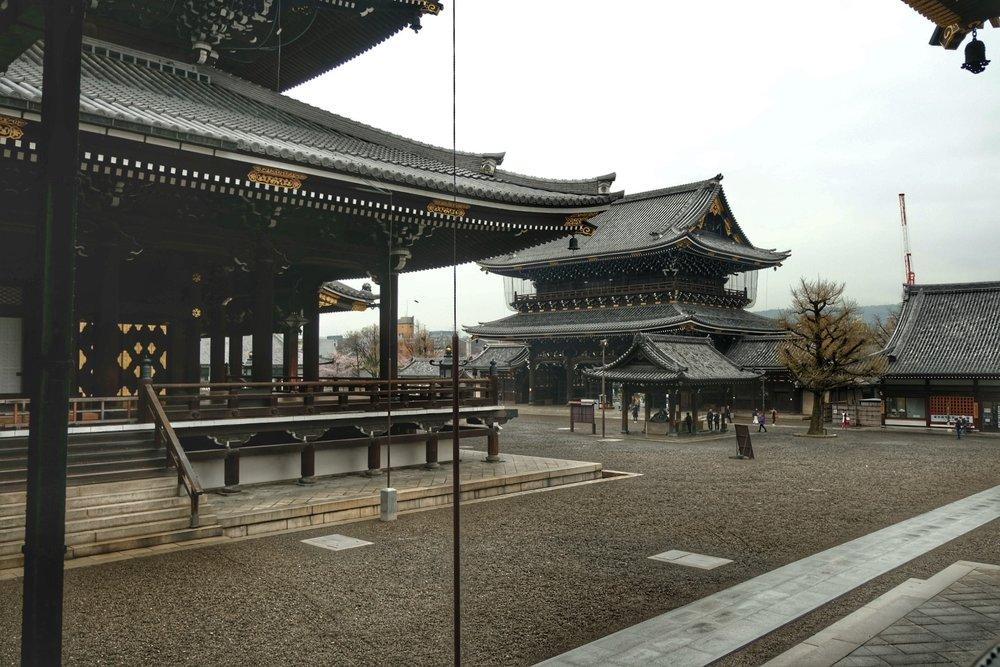 Higashi Honganji temple.