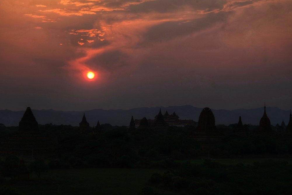 Sunset over Bagan.