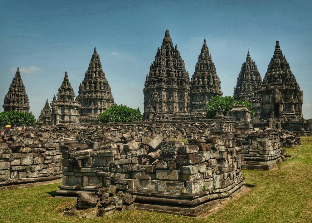 Ruins surrounding Prambanan Temple.