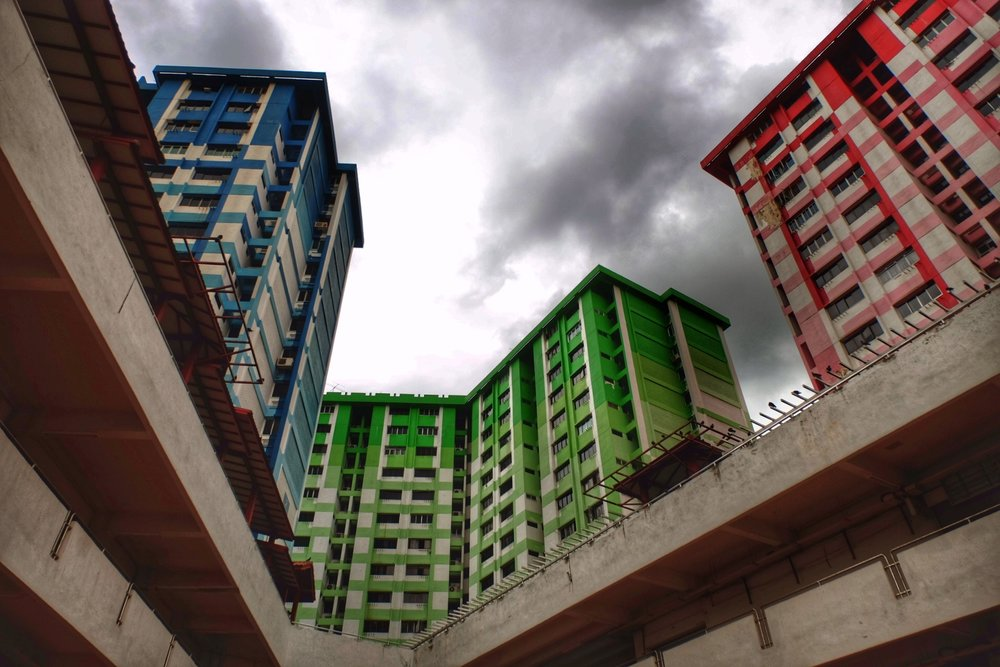 Government Housing in Singapore aka HDB flats.