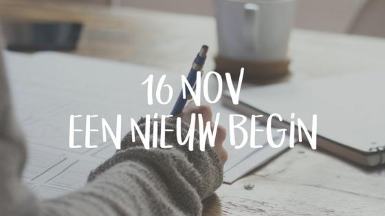 16 nov Een nieuw begin - Een nieuw jaar, project of product? Waar begin je? Wat doe je als eerste? Is er wel een begin?