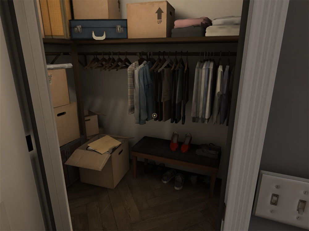 Dead Secret Circle--closet