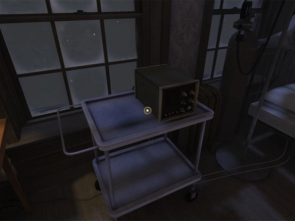 Dead Secret Circle--Colm's bedroom with medical apparatus