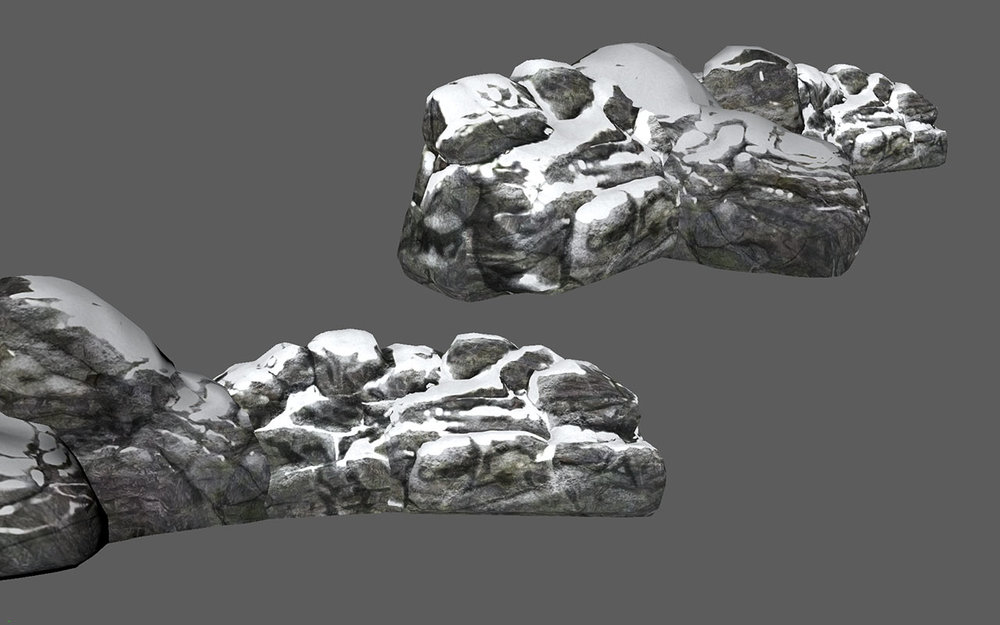 Dead Secret Circle--snowy boulders 2