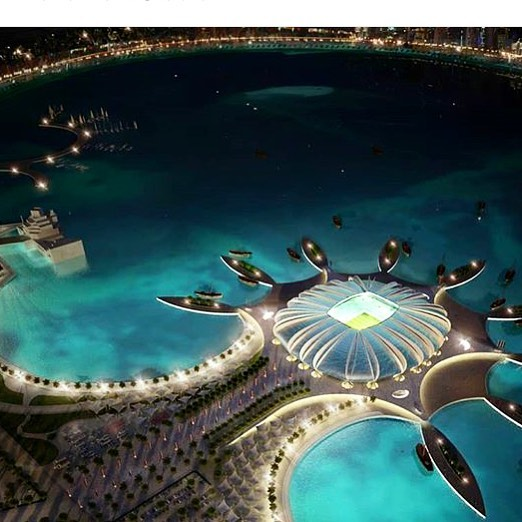 Next stop; Doha! Football is coming home 🙌🙌🙌 👏👏👏- Doha Port Stadium in 2022 🙏