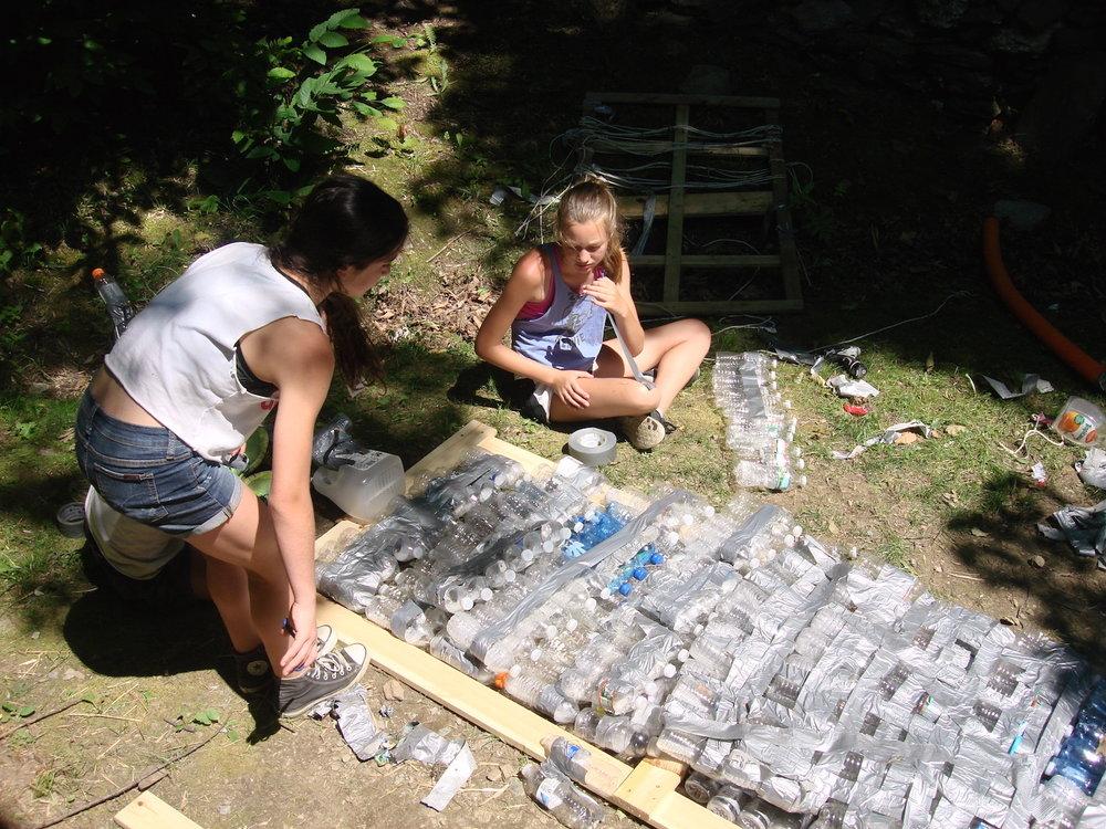 Layering bottles