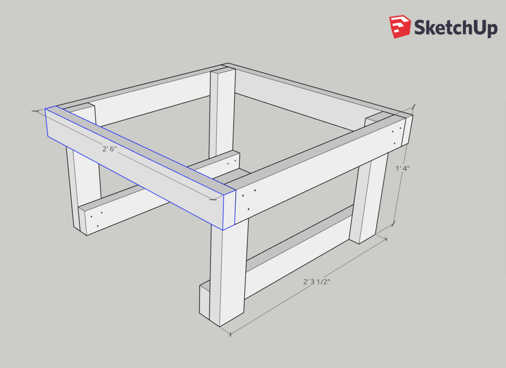 Use a speed square to ensure every connection point is a right angle.