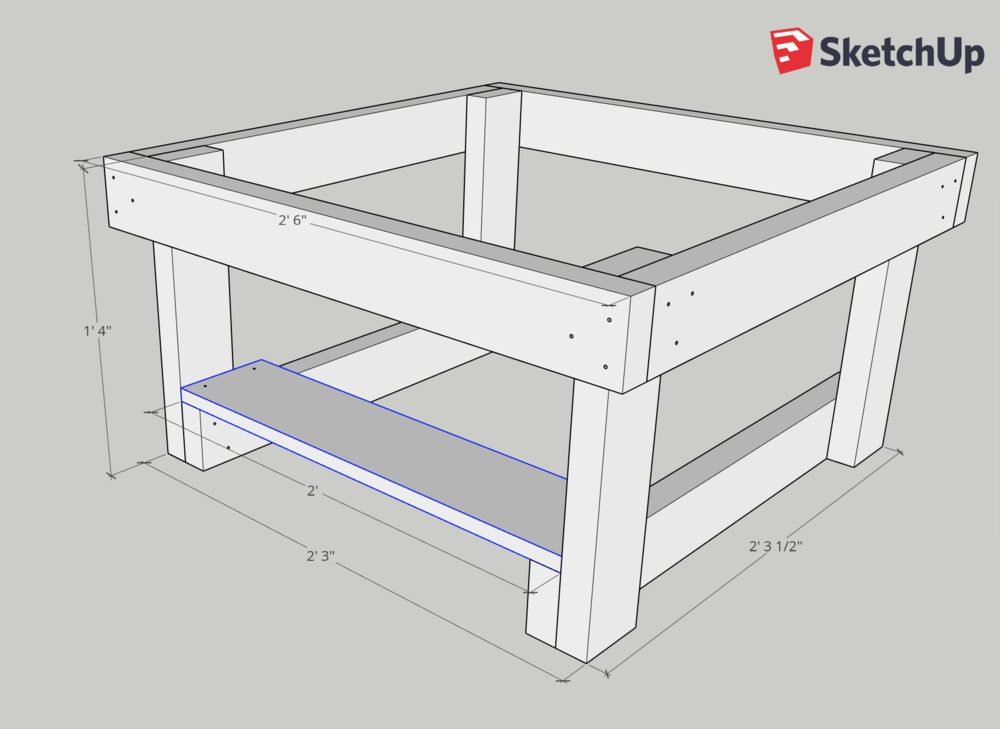 Place the first board on the edge of the table frame.