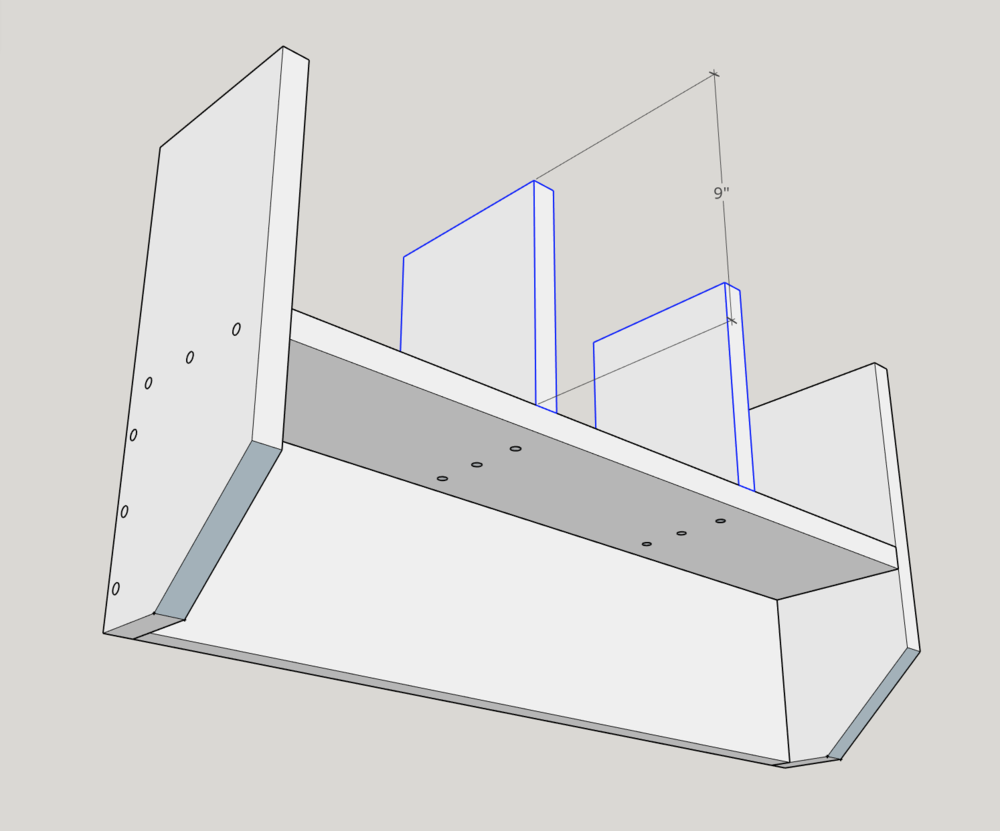 """Use (3) 2"""" screws for each 9"""" cubby spacers."""