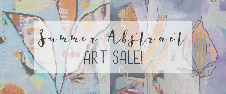 summer abstract art sale