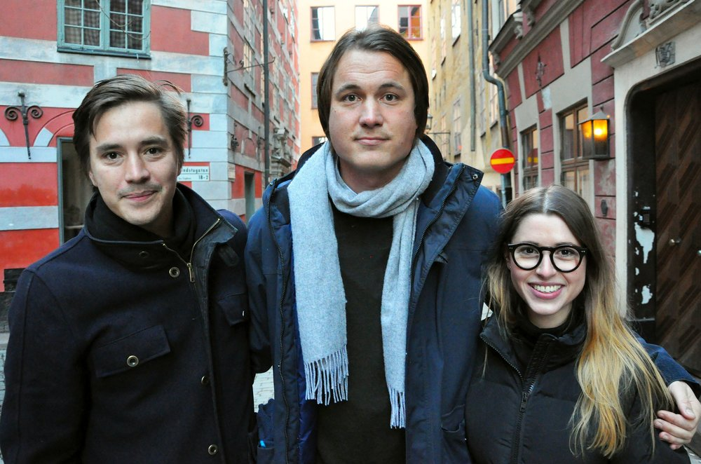 Founders of Grönska: Robin Lee, Petter Olsson & Natalie de Brun Skantz. Picture taken by Hans Kronbrink.