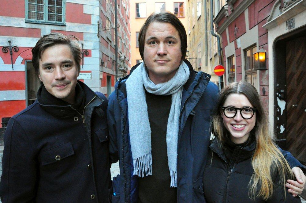 Grundare av Grönska: Robin Lee, Petter Olsson & Natalie de Brun Skantz. Bild: Hans Kronbrink.