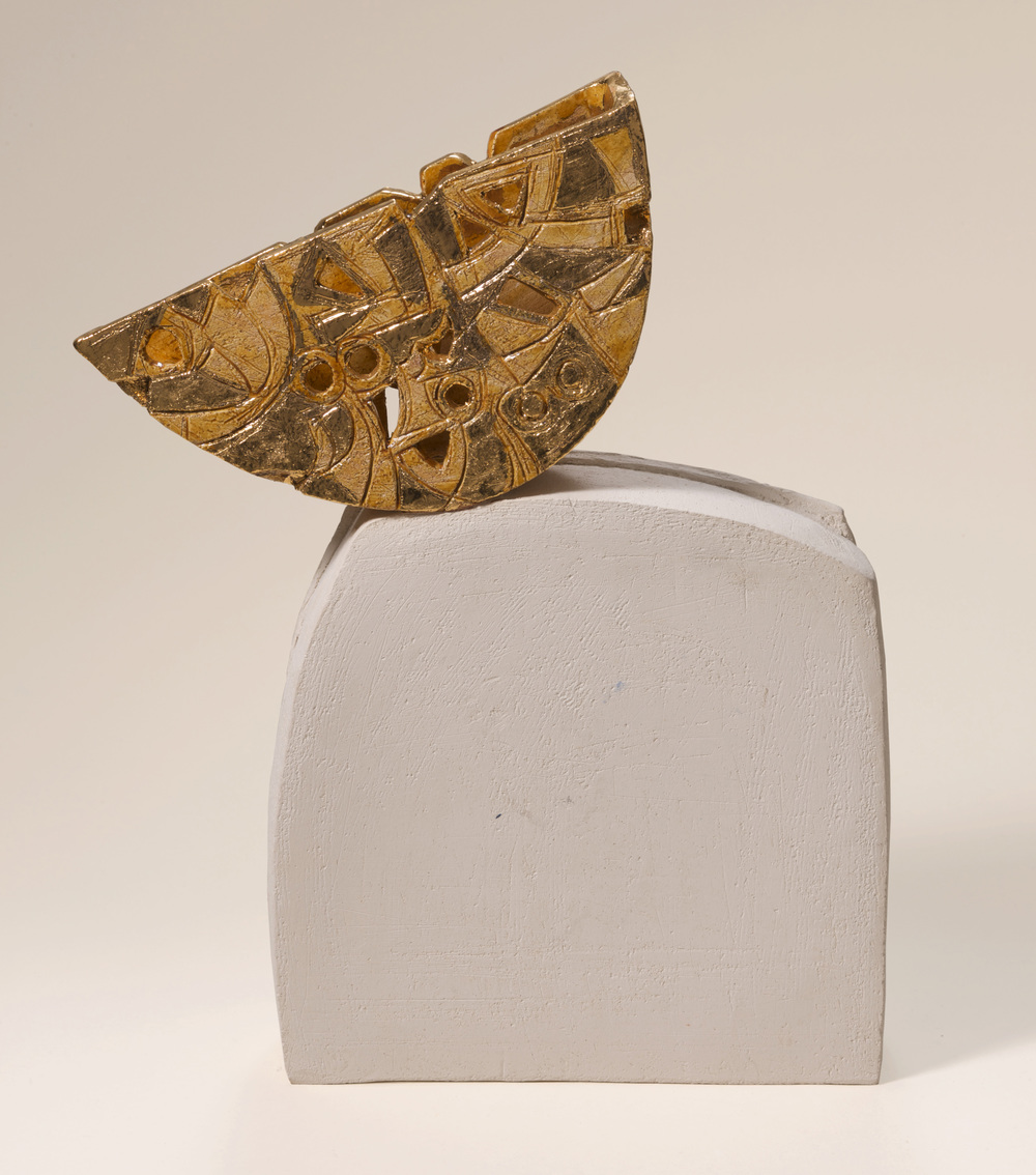 Ainaki Ghabeta Nakheel       Earthstone and gold 42x32x7cm 2008 Private Collection UK