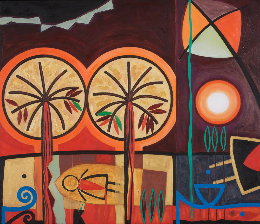 Ahlam  Kites and Shattered Dreams  Oil on canvas 60x70cm 2008 Private Collection UK