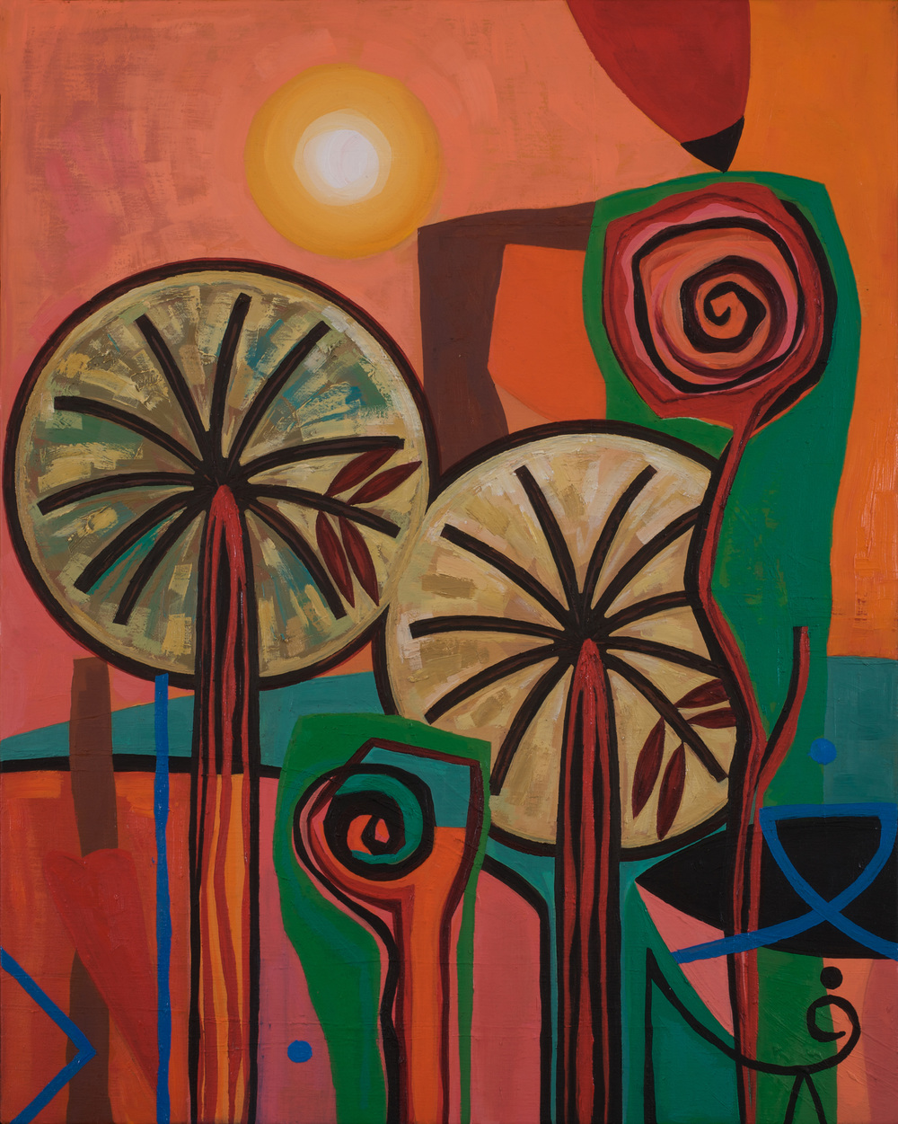 Noor  Kites and Shattered Dreams  Oil on canvas 50x40cm 2008 Private Collection Dubai