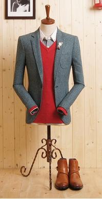 Faded Navy Suit - Cashmere