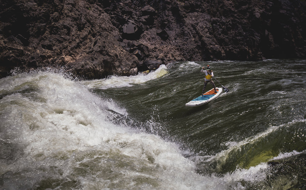 Dropping into rapid 12B on the Zambezi      Photographer: Chantelle Melzer