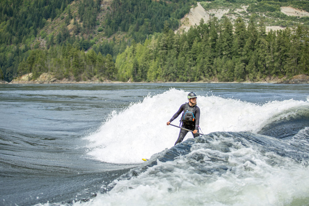 Surfing at Skookumchuck in British Columbia      Photographer: Heather Jackson