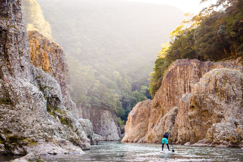 Paddling in the Uji Canyon in Japan      Photographer: Zach Mahone