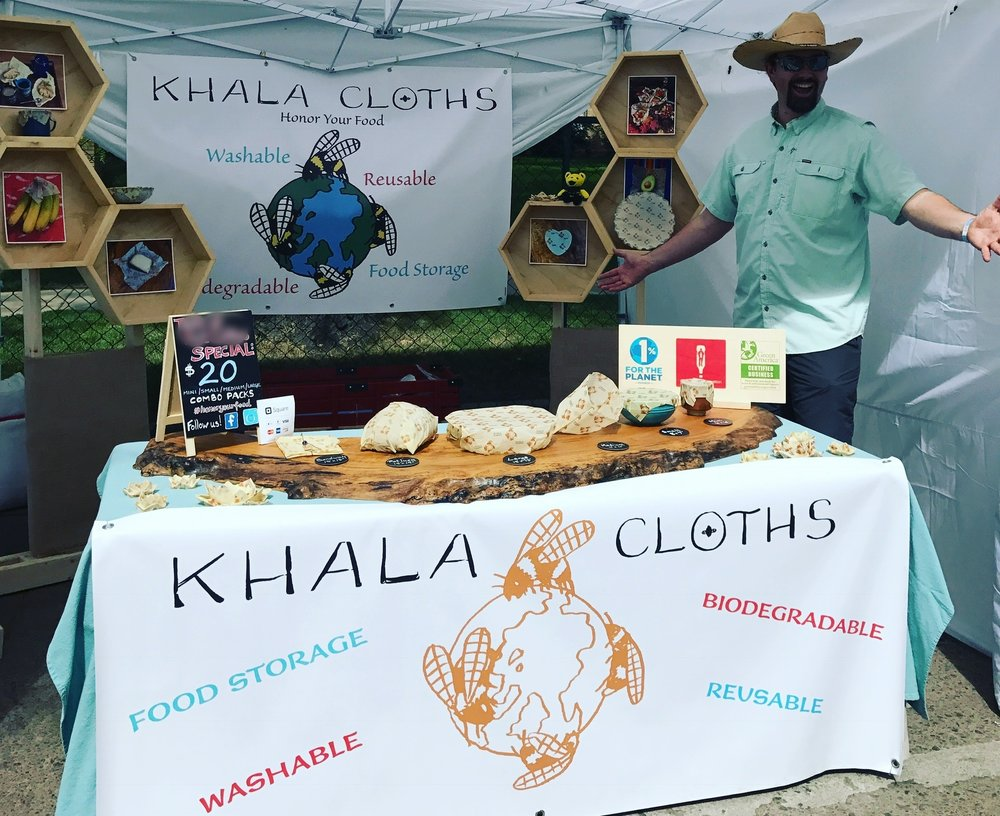 Come say hello! - 1/2 of Khala Cloths is Asa McKee, the heart and soul of our operations and family.