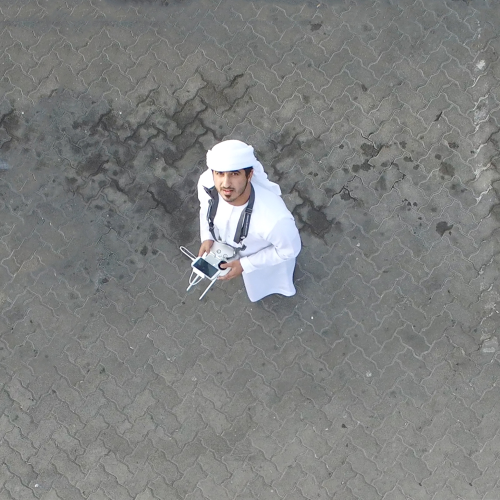 Take aerial shot in Abu Dhabi
