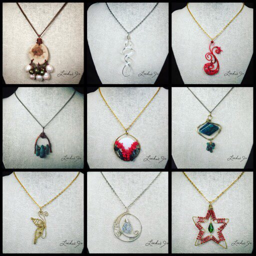 This is a sampling of pendants created from past retreats