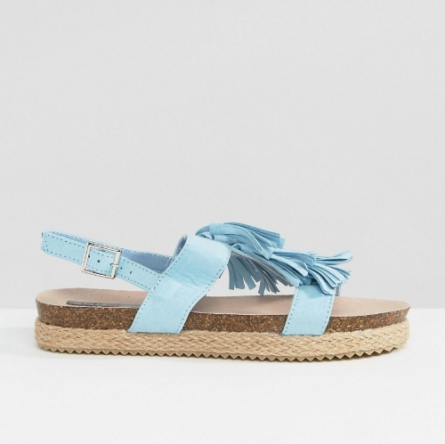 Blue Flat Sandals