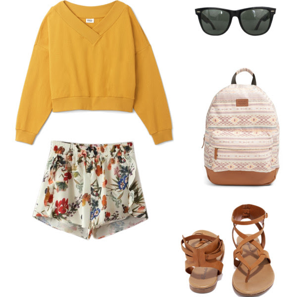 Weekday.com Sweatshirt - Chicnova.com Shorts - Lulus Sandals - Nordstrom Bag -