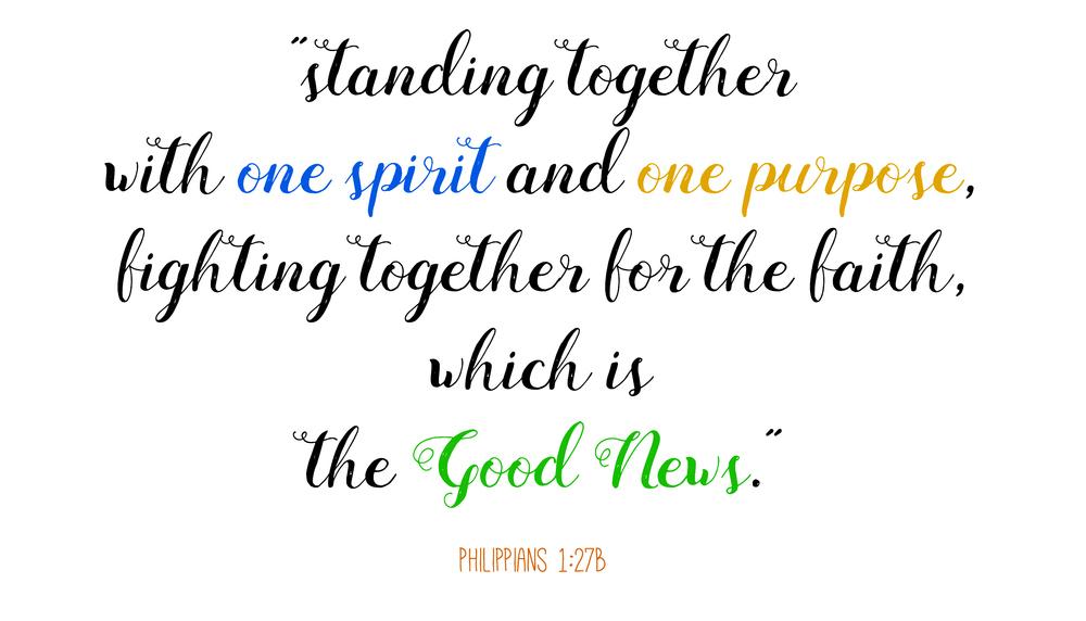 Philippians 1: 27b