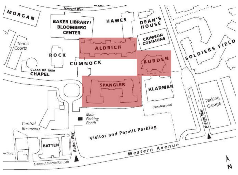 HBS Campus Map