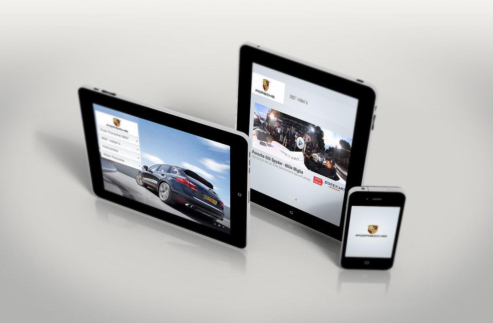 Porsche 360 app design