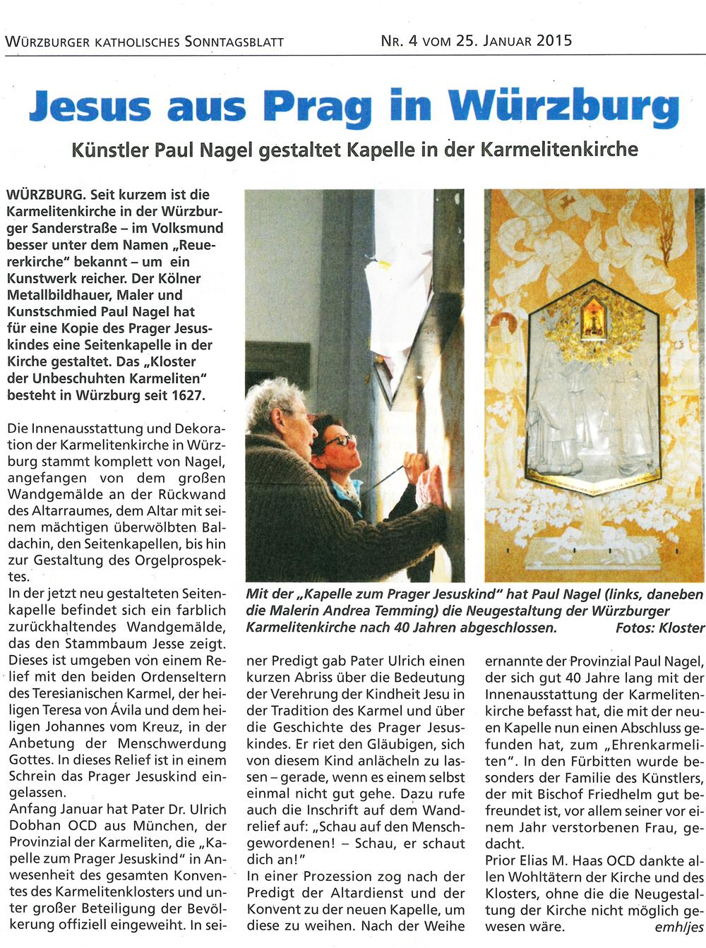 Würzburger Katholisches Sonntagsblatt, 25. Januar 2015