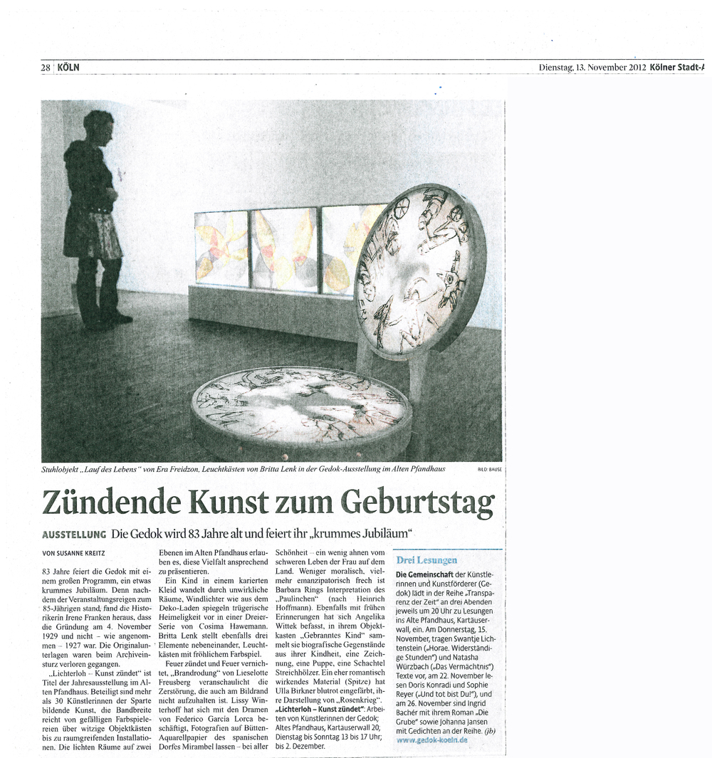 Kölner Stadtanzeiger, 13. November 2012