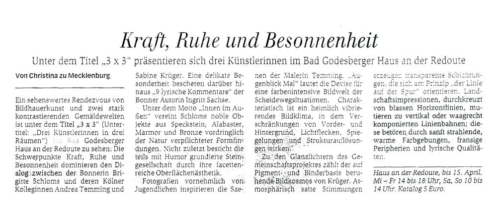 Generalanzeiger Bonn, 27. März 2016