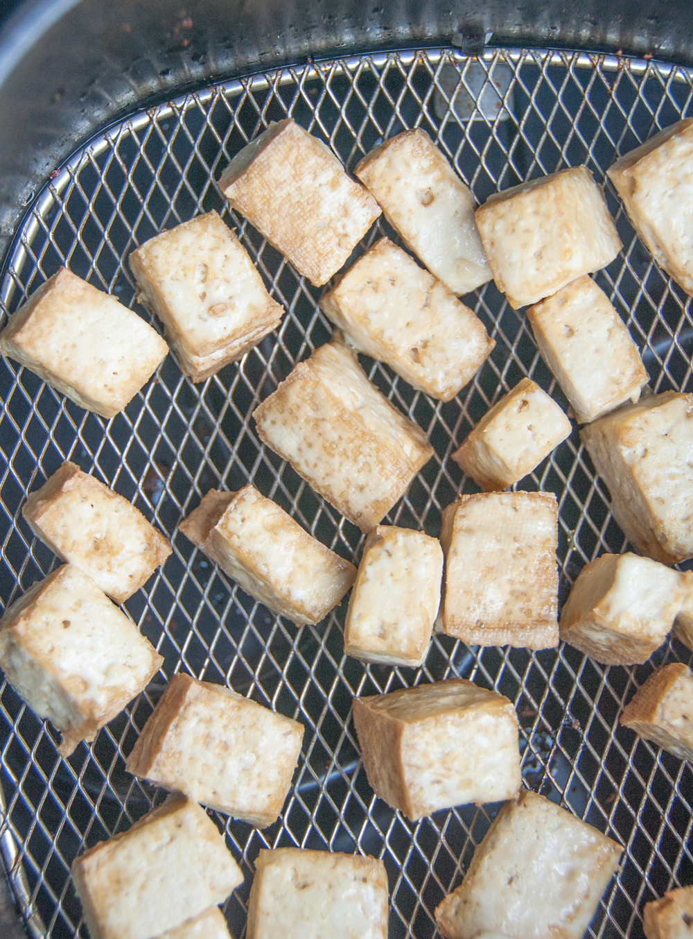 Tofu fried in Philips airfryer