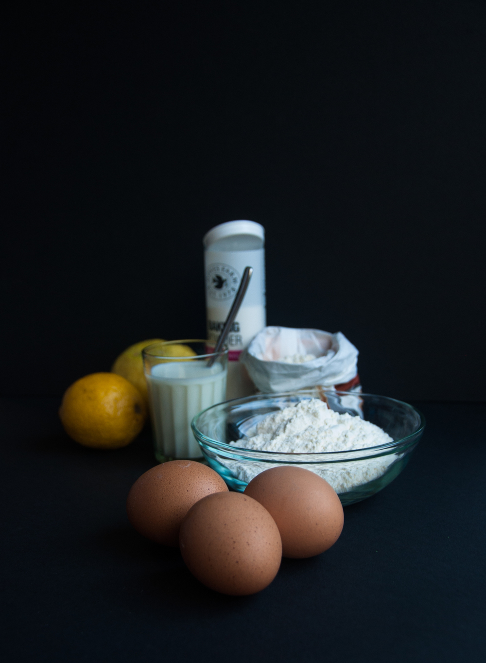 Ingredients for the lemon cake