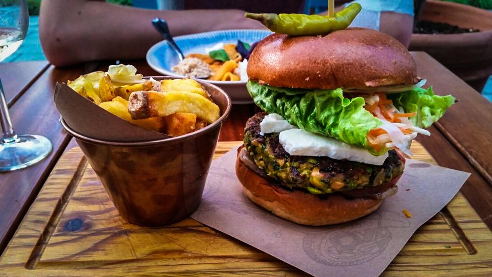 Veggie burger at Jamie's Italian, Markthal Rotterdam