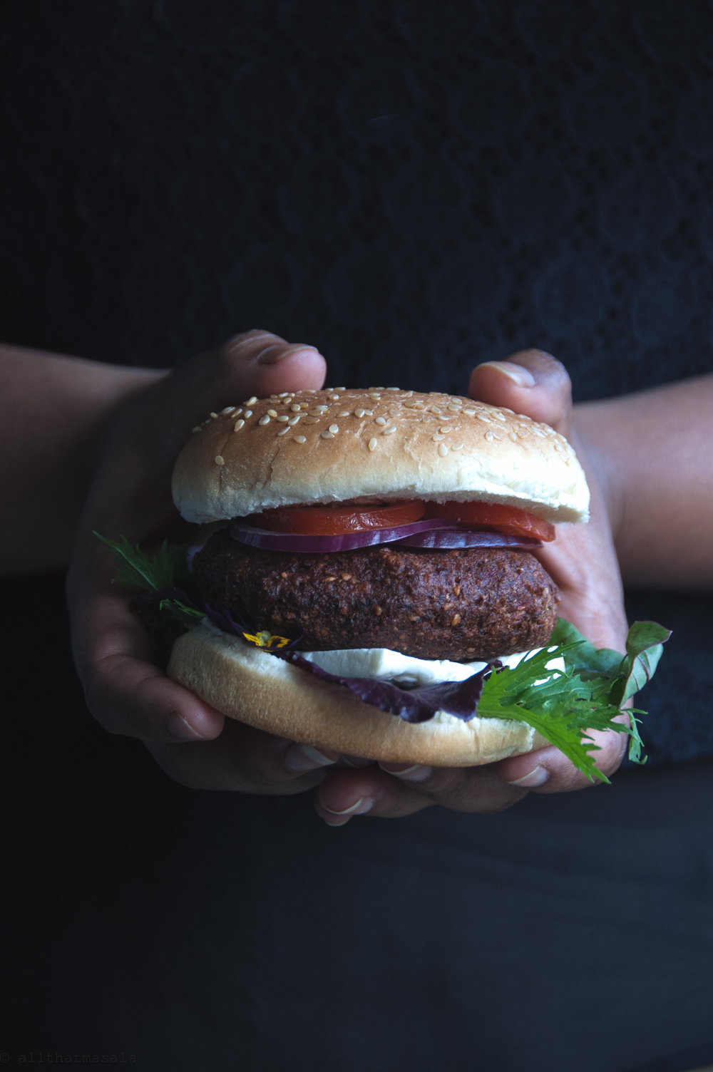 Thai mushroom vegan burger, how can we ever say no to this one?!
