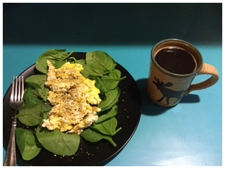 Spencer's Spinach and eggs.