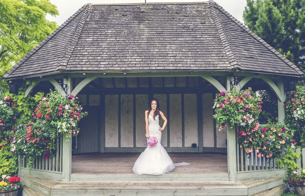bride on the outside pavilion