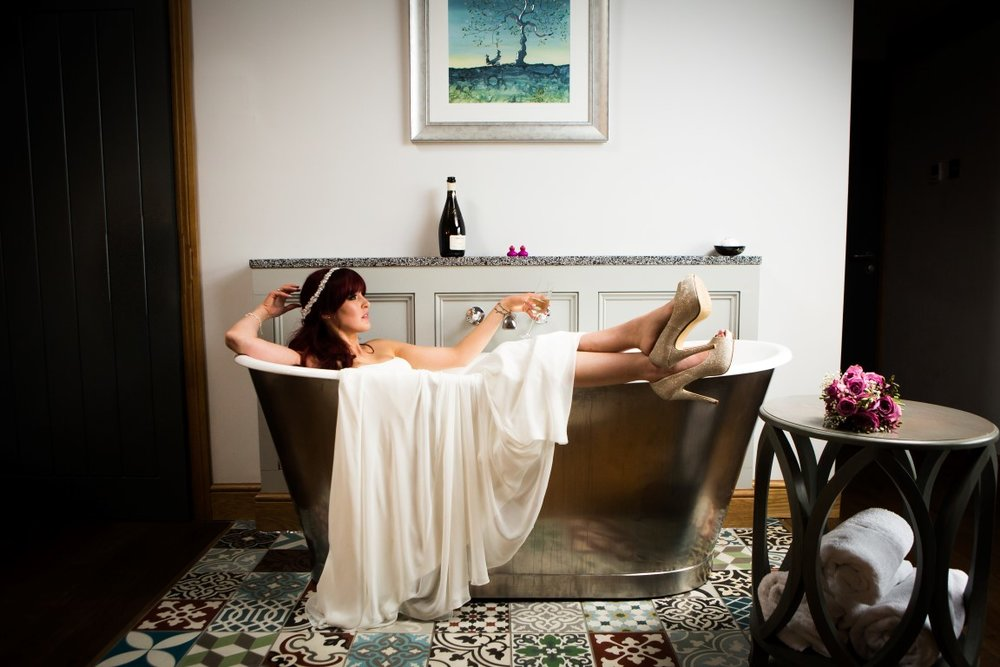 Glamorous Linda in our bath