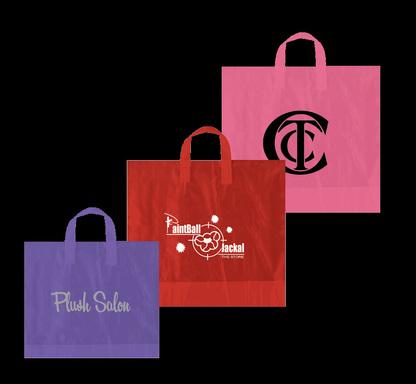 Logo printed plastic shopping gift bags