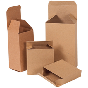 Natural brown kraft small parts chipboard boxes