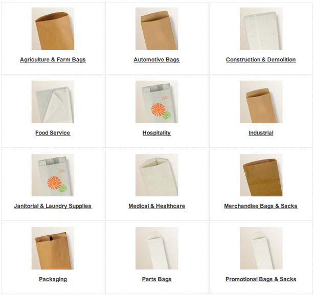 Specialty paper bags and sacks