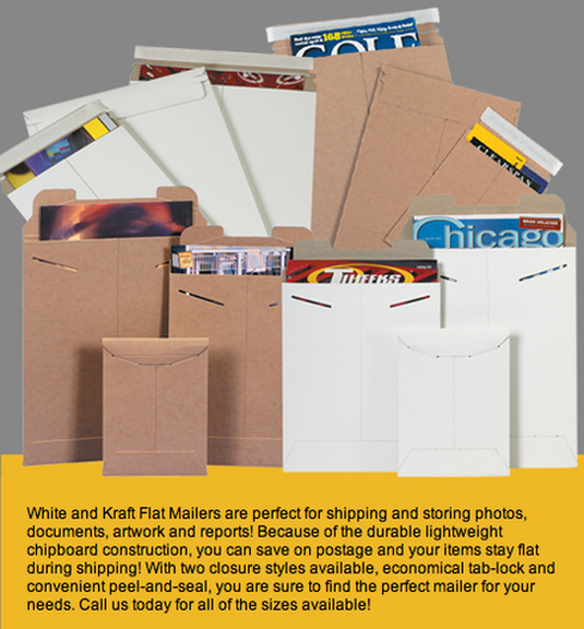 Flat Rigid Mailers Envelopes